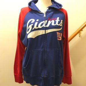 NFL NY Giants full zip hoodie. Ladies Large